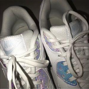 quality design 6ffe9 79059 Nike Shoes - Nike Air Max 90 Premium 443817-104 White Blue Tint